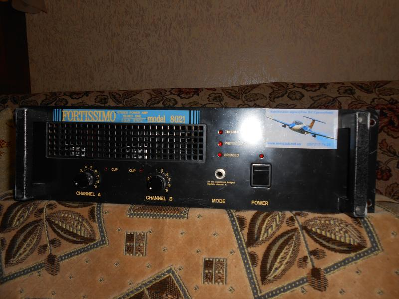 Услитель звука двухканальный рековый по 500 вт. на канал