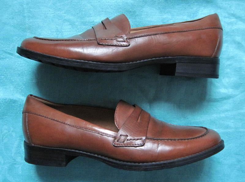 5th avenue (39, 25 см) кожаные туфли лоферы женские
