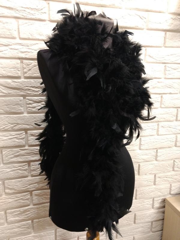 Натуральный шарф боа из перьев