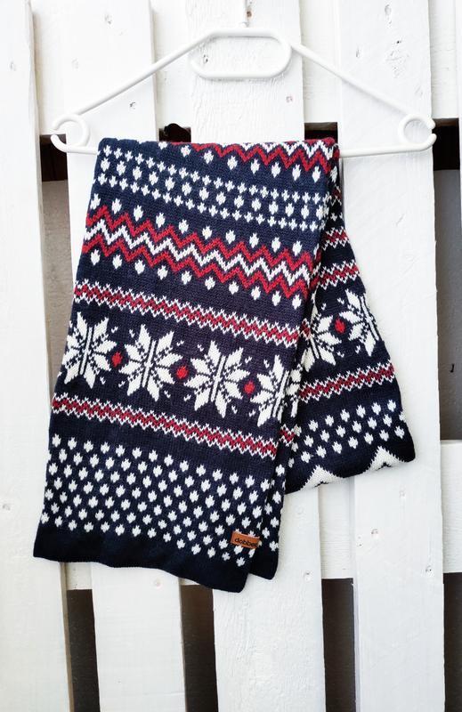 Теплый стильный фирменный шарф dobber шерсть