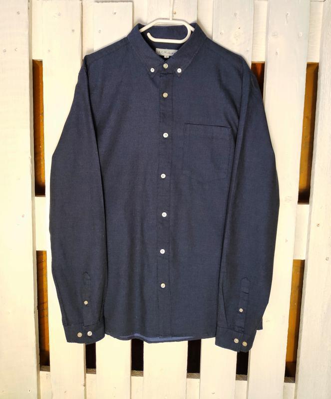 Тёмно-синяя хлопковая рубашка scw