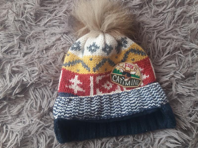 Шерстяна зимова шапка