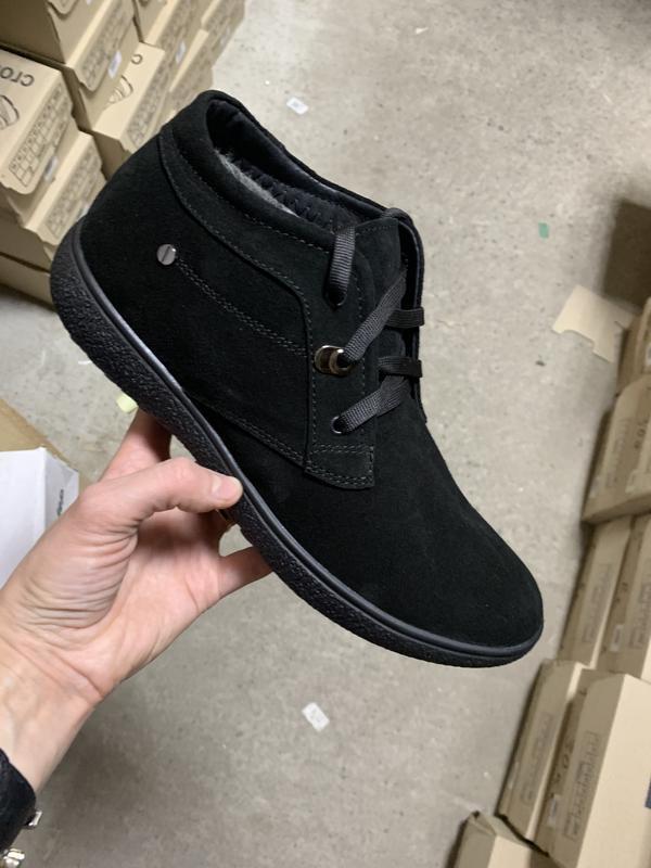 Мужские зимние ботинки {натуральная замша}
