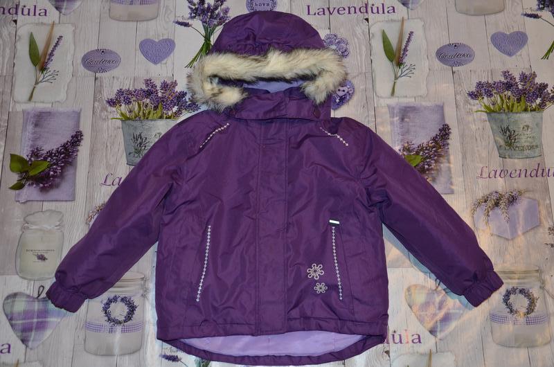 Зимняя термо курточка для девочки lupilu 98/104см