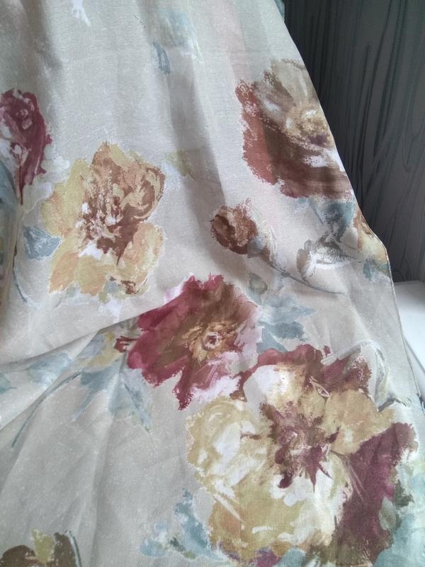 Изысканный шарф платок цветочный принт живопись