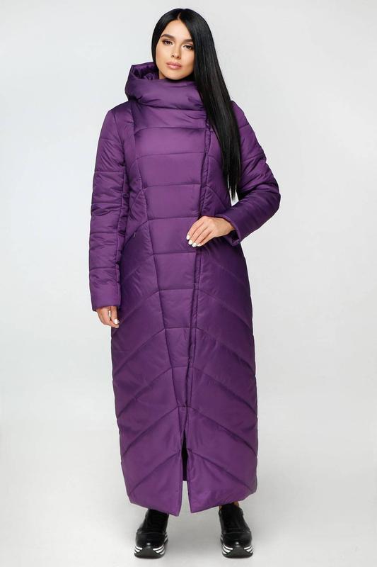 Пуховик-одеяло пв-1133 лаке тон 33-фиолет, р.44-58, украина