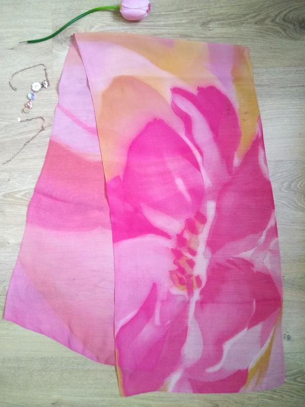 Изысканный итальянский шарф нежный цветок палантин платок