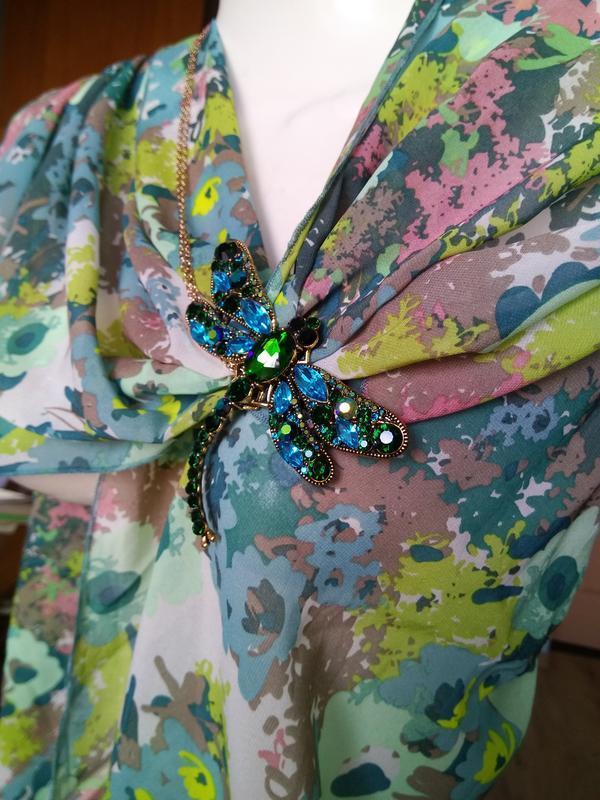 Прекрасный шарф платок палантин цветочный принт