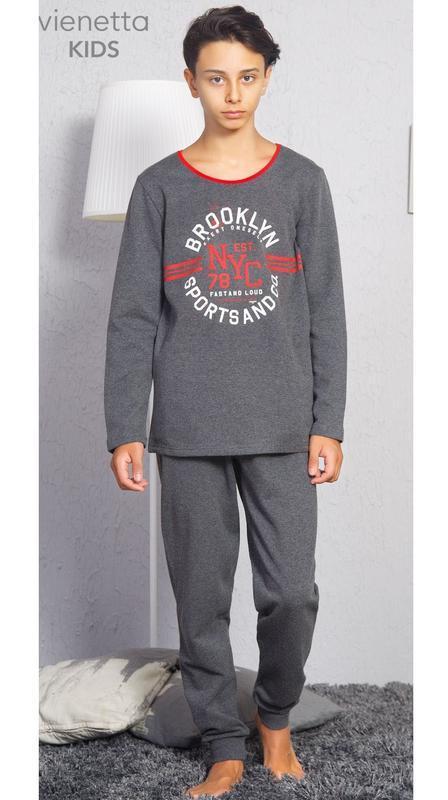 Тёплые пижамы для мальчиков на 9-10,  13-14, 15-16  лет байка
