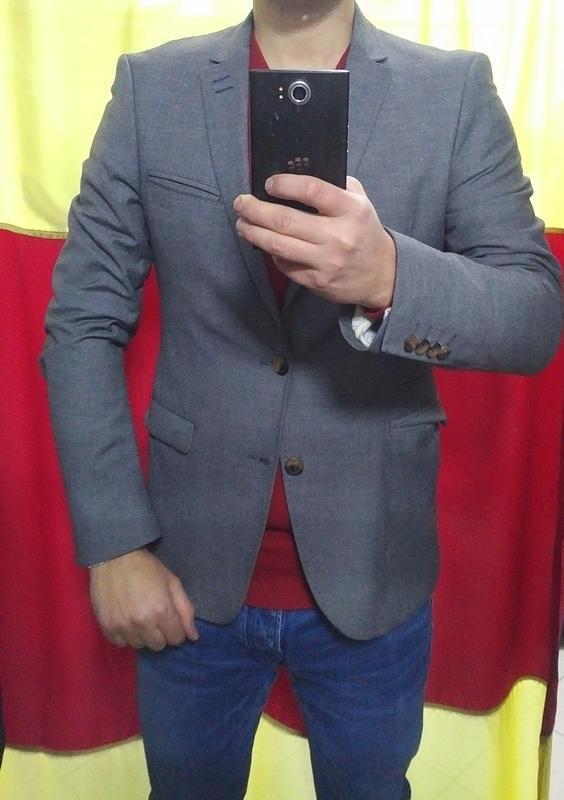 Серый пиджак блейзер zara man jeans couture