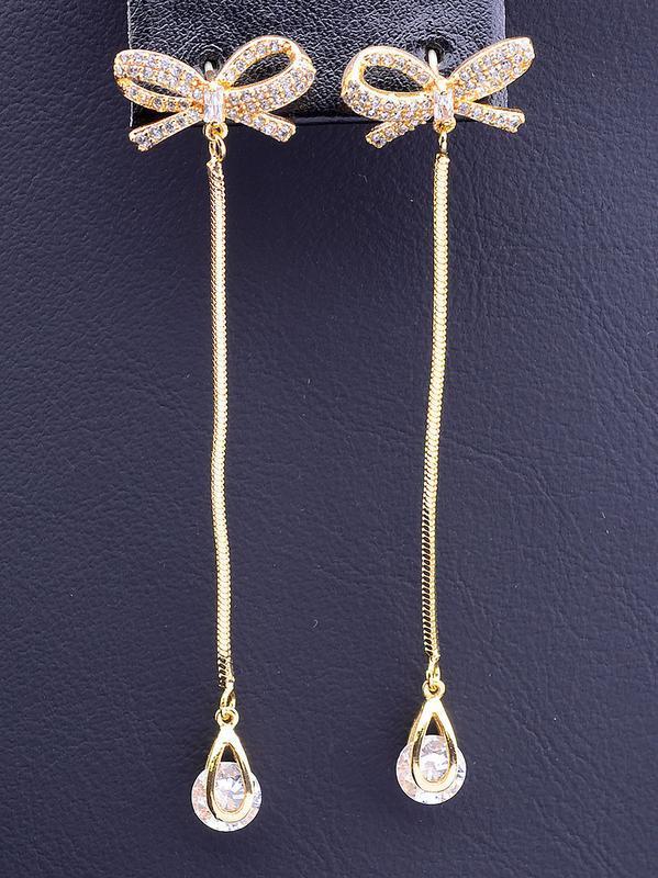 Серьги 'xuping' фианит (позолота 18к)  0856170