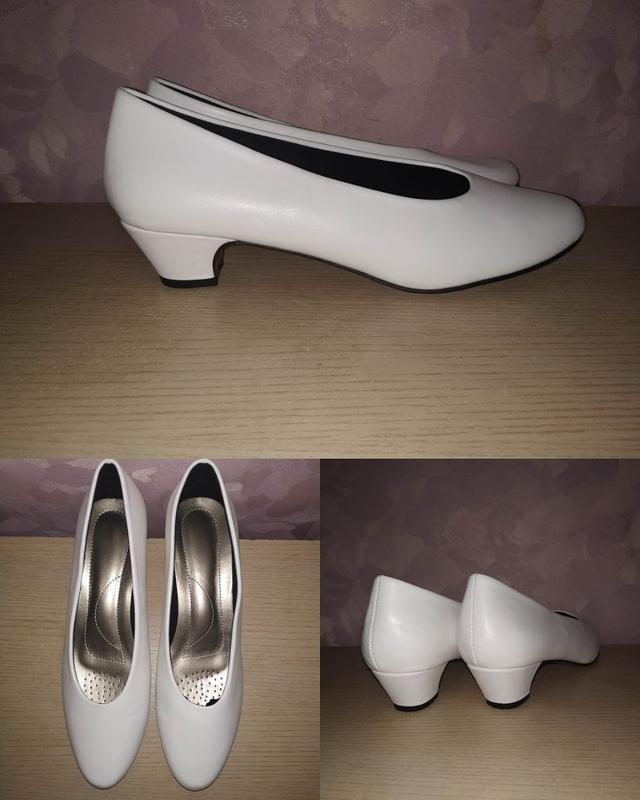 Туфли 43 р большой размер лодочки белые
