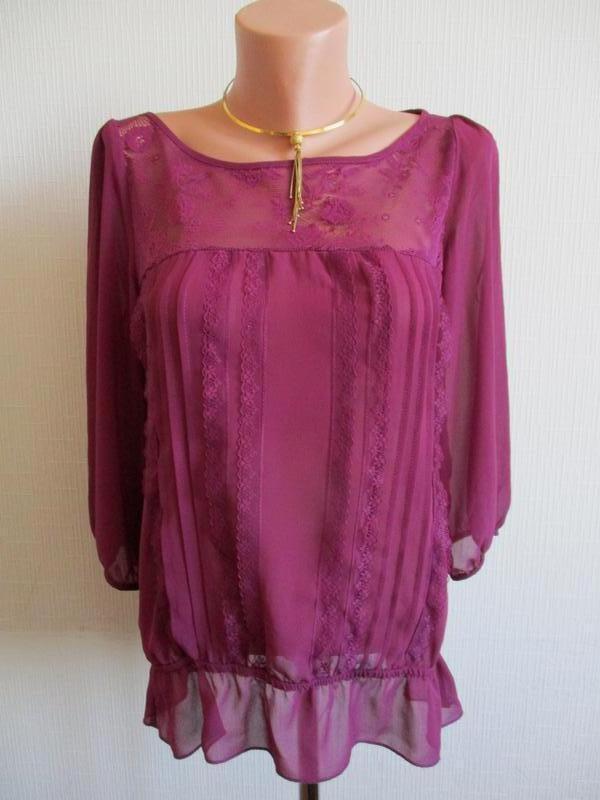 Яркая блуза с кружевом atmosphere, подарю при покупке 2-х вещей