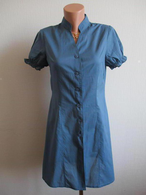 Натуральное хлопковое платье-рубашка на пуговицах la vie