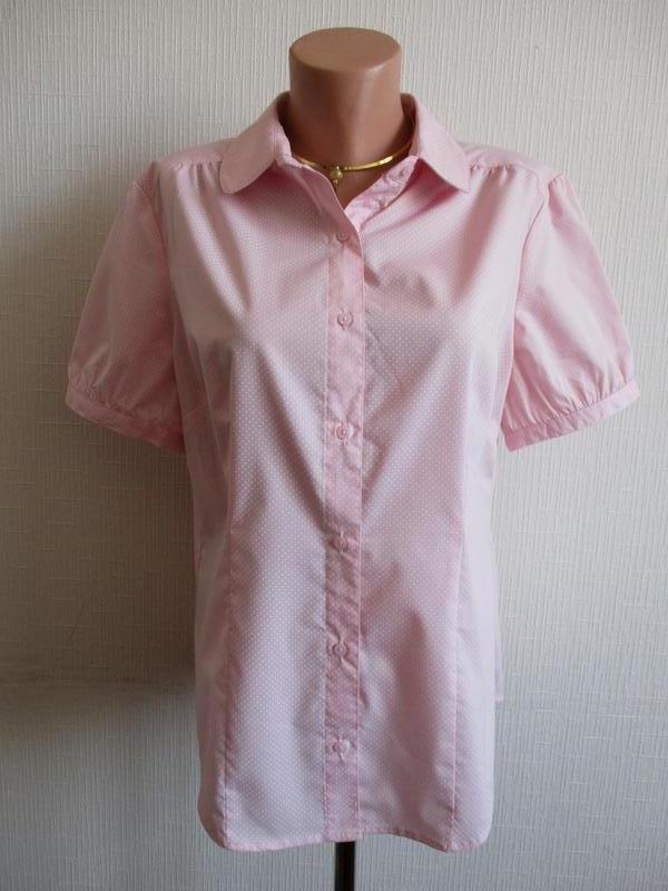 Нежная блузка в мелкий горох tu