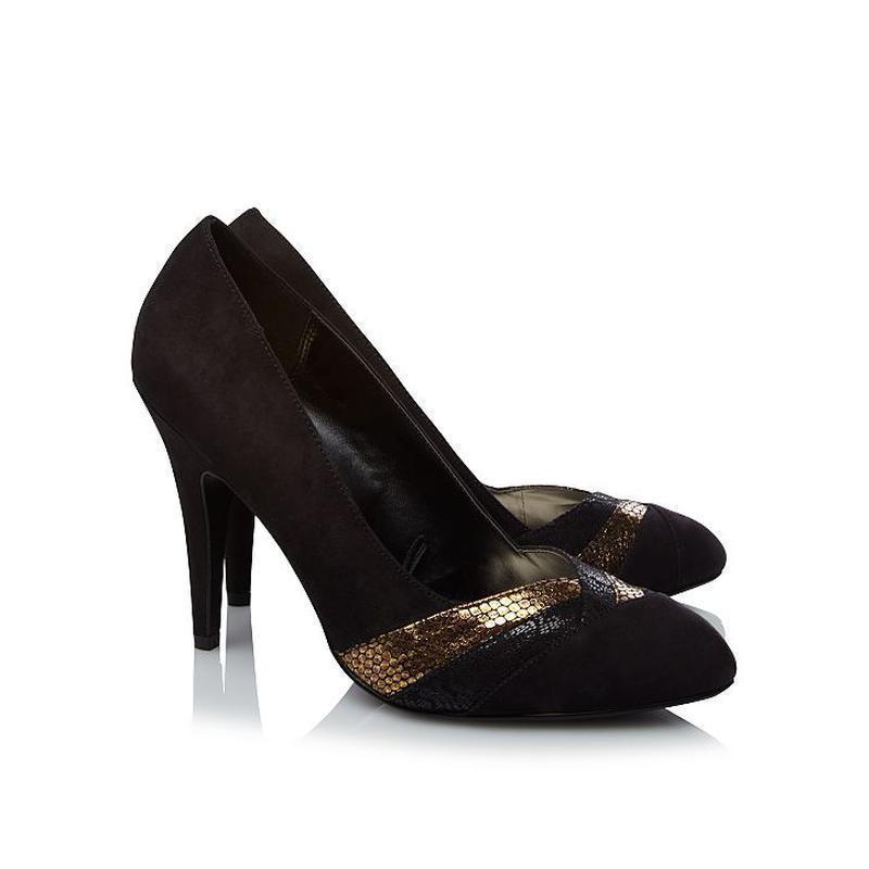 Замшевые туфли на шпильке george