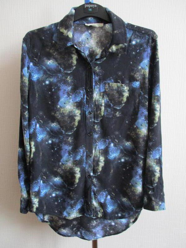 Натуральная вискозная рубашка в принт
