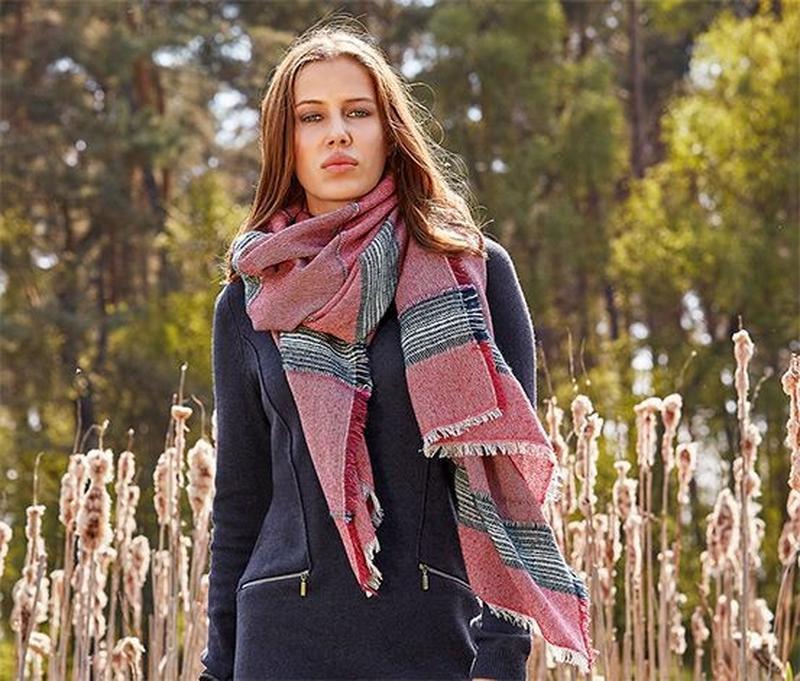 Большой теплый шарф палантин tcm tchibo германия