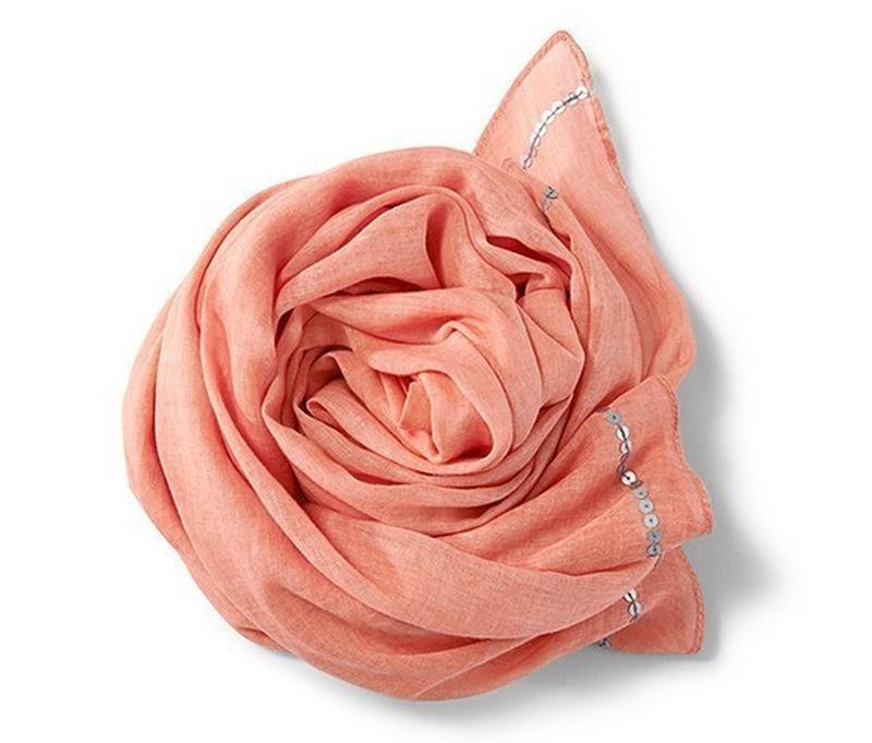 Хлопковый шарф-платок с пайетками tcm tchibo
