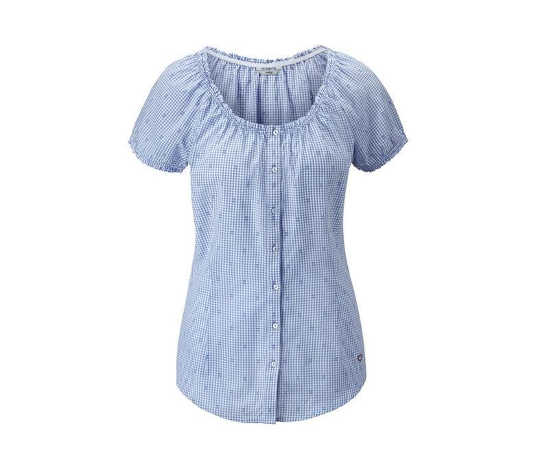Хлопковая блуза в клетку tcm tchibo