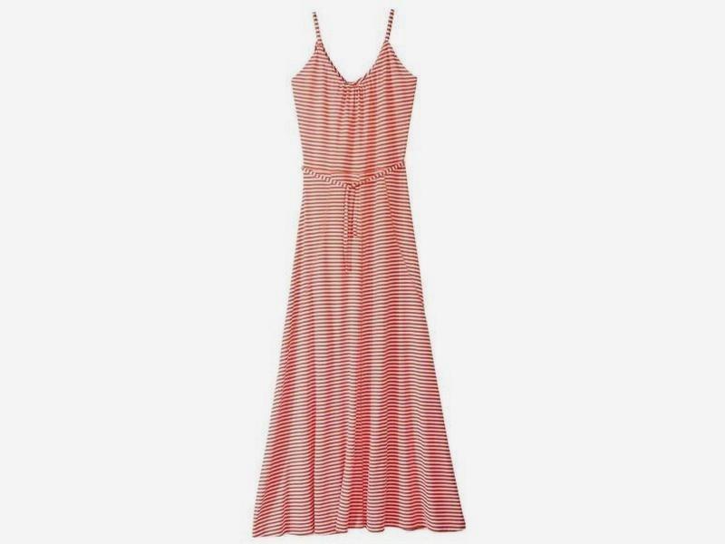 Длинное макси платье в пол в полоску esmara