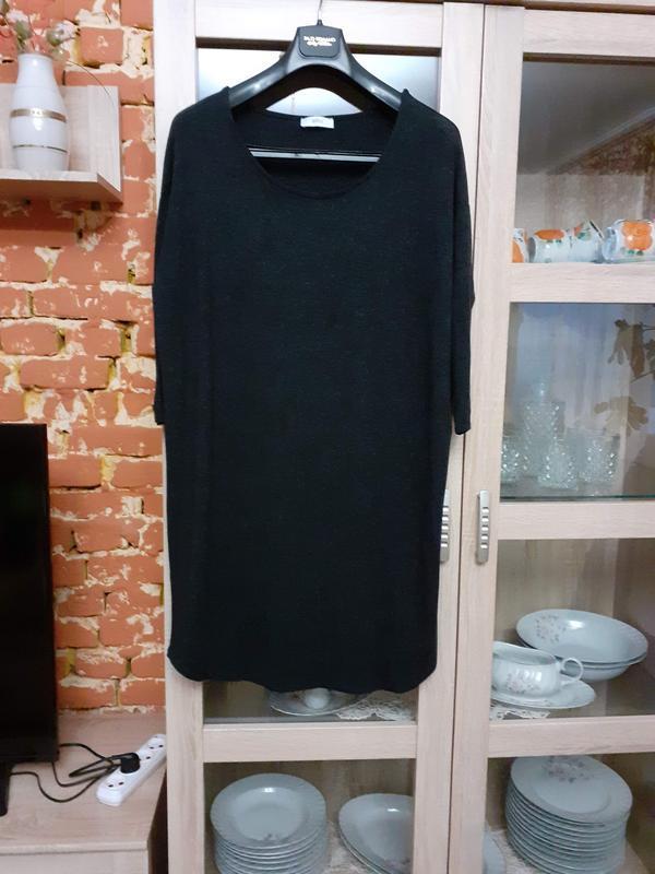 Идеальное базовое вискозное платье большого размера