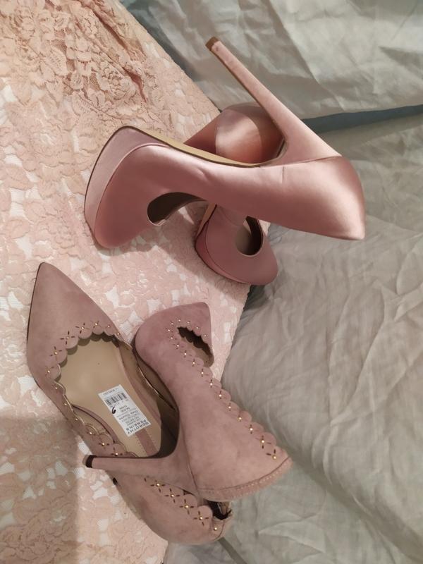Набор лот комплект пудровый розовый жемчужно-розовый замш шелк...