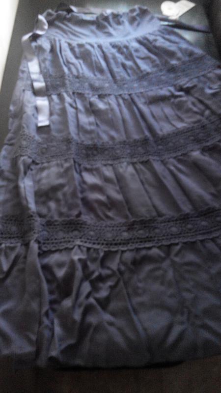 Длинная летняя легкая юбка