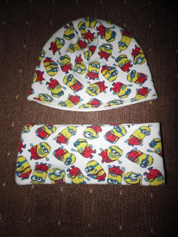 Набор шапка и хомут на байке 4-6 лет