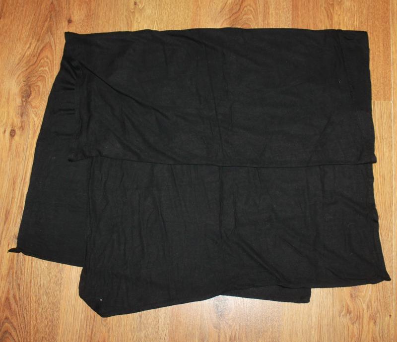 Палантин шарф черный 153*53см.