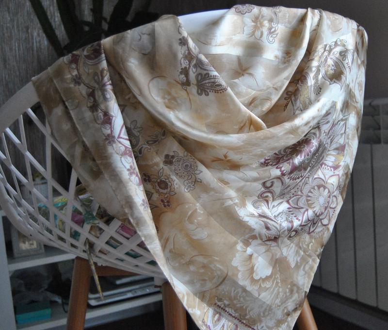 Шелковый платок шарф oscar de la renta / шовкова хустка