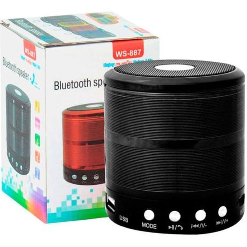 Портативная мини Bluetooth колонка-плеер WS-887 Speaker c FM