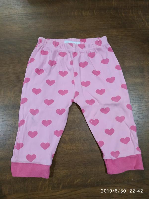 Фирменные легкие штанишки на малышку 6-12 мес