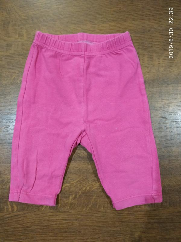 Летние укороченные штанишки на девочку,  9-12 мес