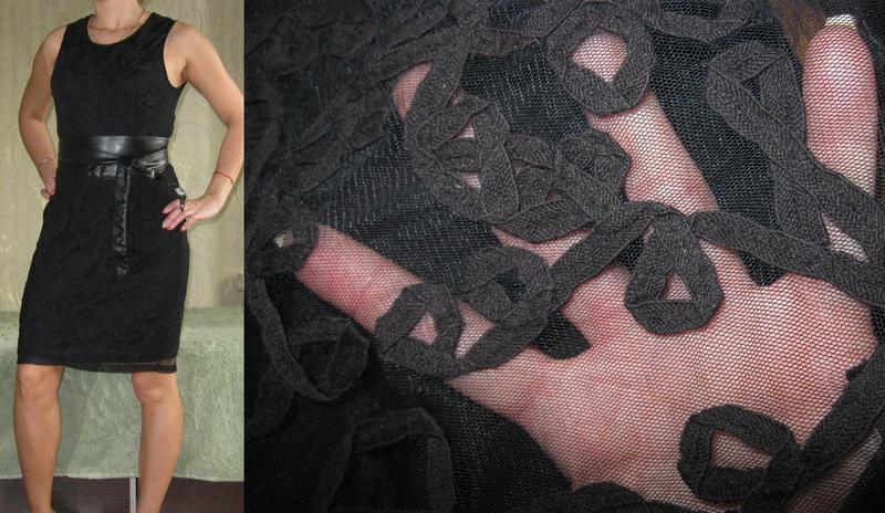 Кружевное платье-футляр zara - оригинал! размер 44-46-48 - Фото 3