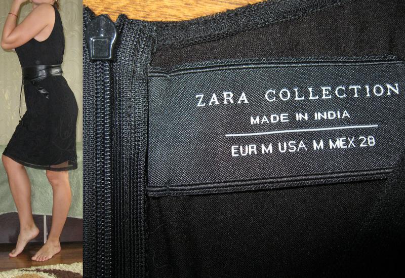 Кружевное платье-футляр zara - оригинал! размер 44-46-48 - Фото 5