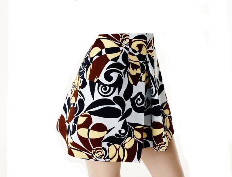 Красивая юбка а-силуэт,замочек по спинке,ретро,винтаж принт, zara