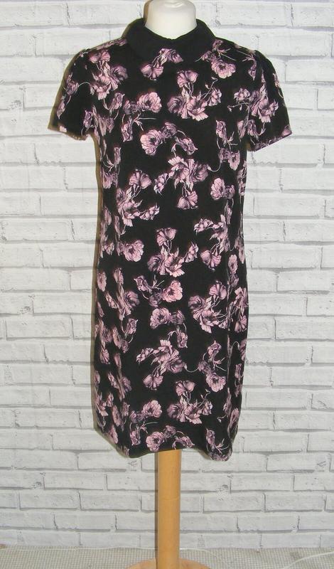 Atmosphere легкое цветочное платье с воротничком, р.14, наш 46-48