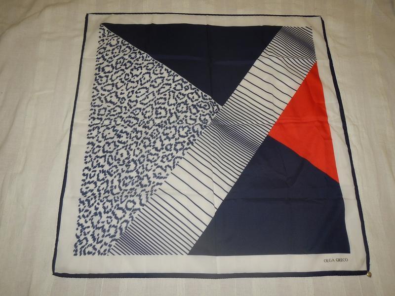 Olga greco винтажный дизайнерский платок