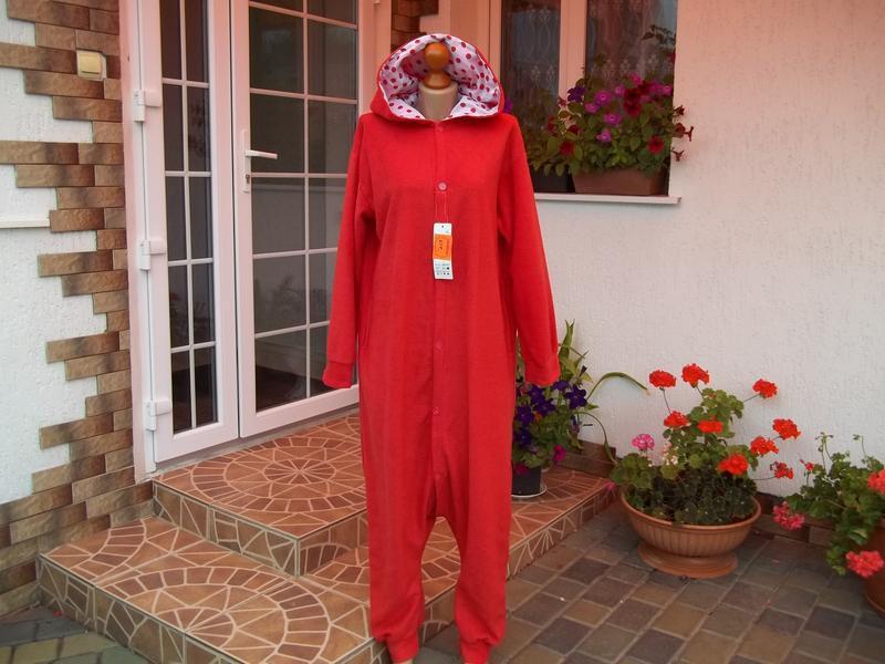 48/50 р флисовый комбинезон пижама кигуруми