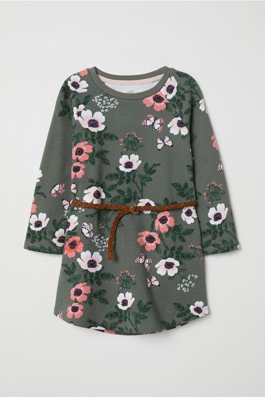 Платье свитшот для девочки h&m, 2-4, 4-6, 6-8, 8-10