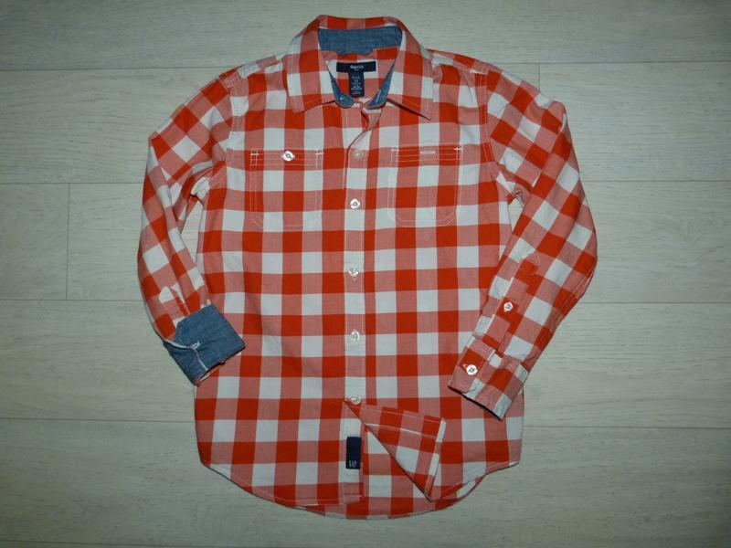 Яркая рубашка gap 6-7 лет. можно на 8 лет