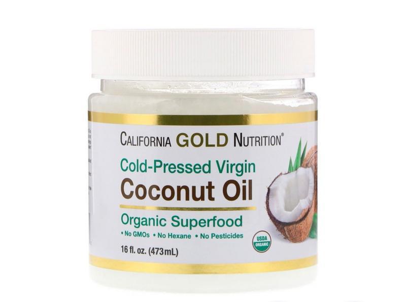 Органическое нерафинированное кокосовое масло, холодного отжима
