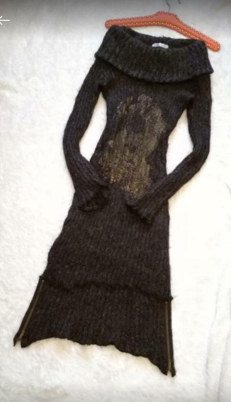 Платье миди вязаное размер xs-s франция