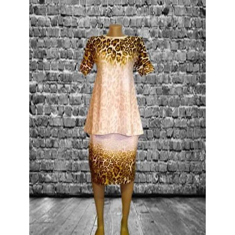 Трикотажное платье-костюм