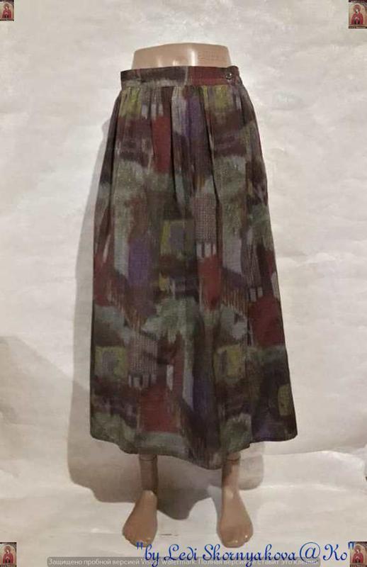 Новая шикарная стильная длинная юбка на запах в абстракцию на ...
