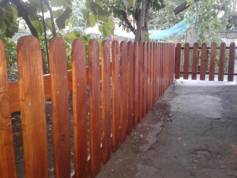 Деревянный забор , штакетник - Фото 3