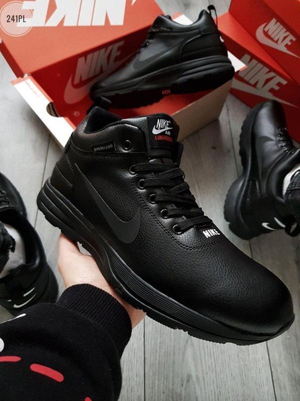 ✳️мужские зимние чёрные кроссовки найк, nike air black winter,...