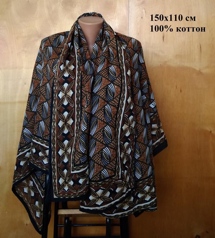 150х110 см роскошный натуральный хлопковый платок шаль паланти...