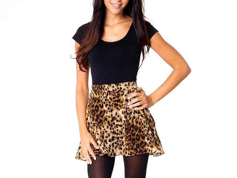 🌺🎀🌺стильная леопардовая юбка-шорты influence!🔥🔥🔥